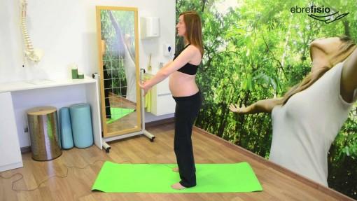 Activación transverso abdominal de pie en anteversión