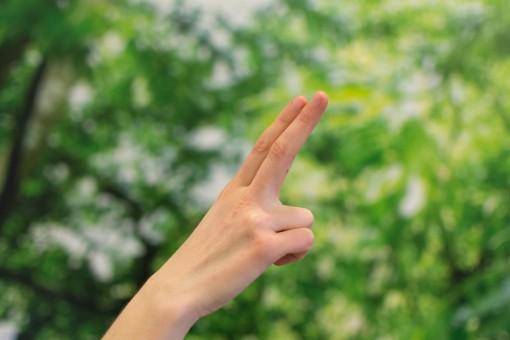 dedos indice y corazon