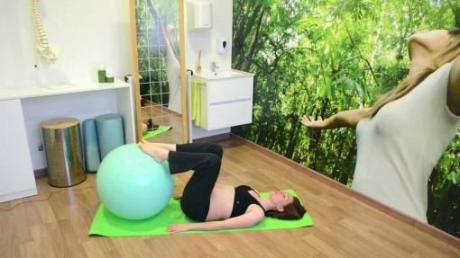 Flexión de cadera con pelota