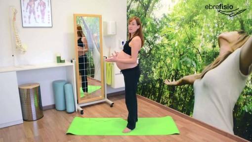 Peso atrás y rotación externa de caderas