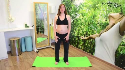 Posición inicial activación transverso de pie